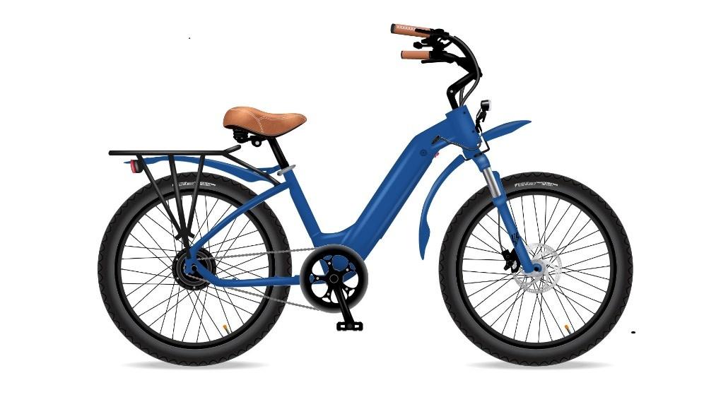 Electric Bike Company MODEL R LAPSE BLUE FENDERS SUSP SEAT 7SP RACK