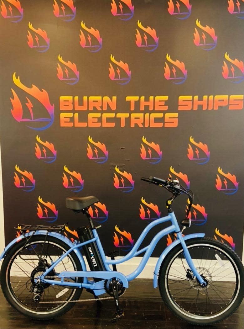 Driven Bikes Playa Thin 500 Lt Blue Step Hydraulic Brake
