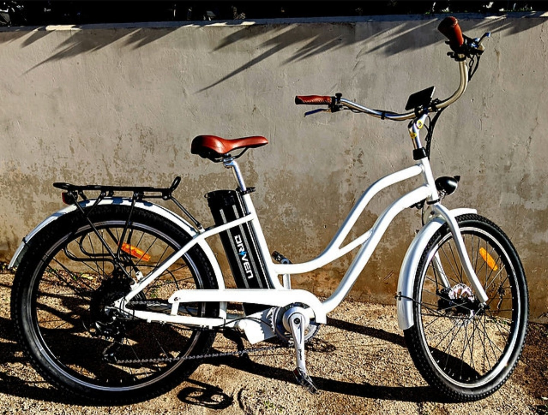 Driven Bikes Playa Thin 500 White Step Hydraulic Brake