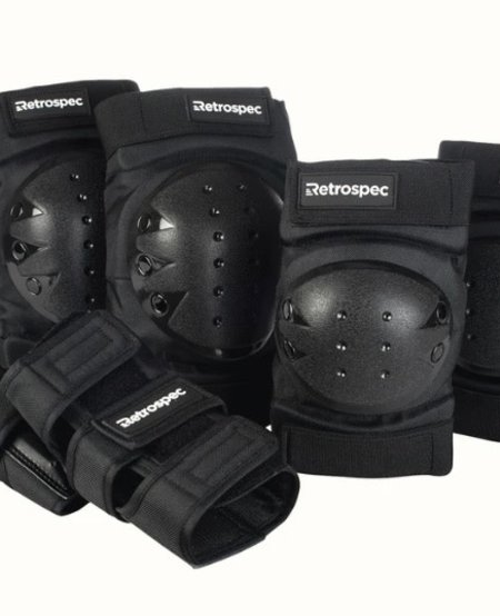 Knee and Elbow Pads & Wrist Guards Black & White