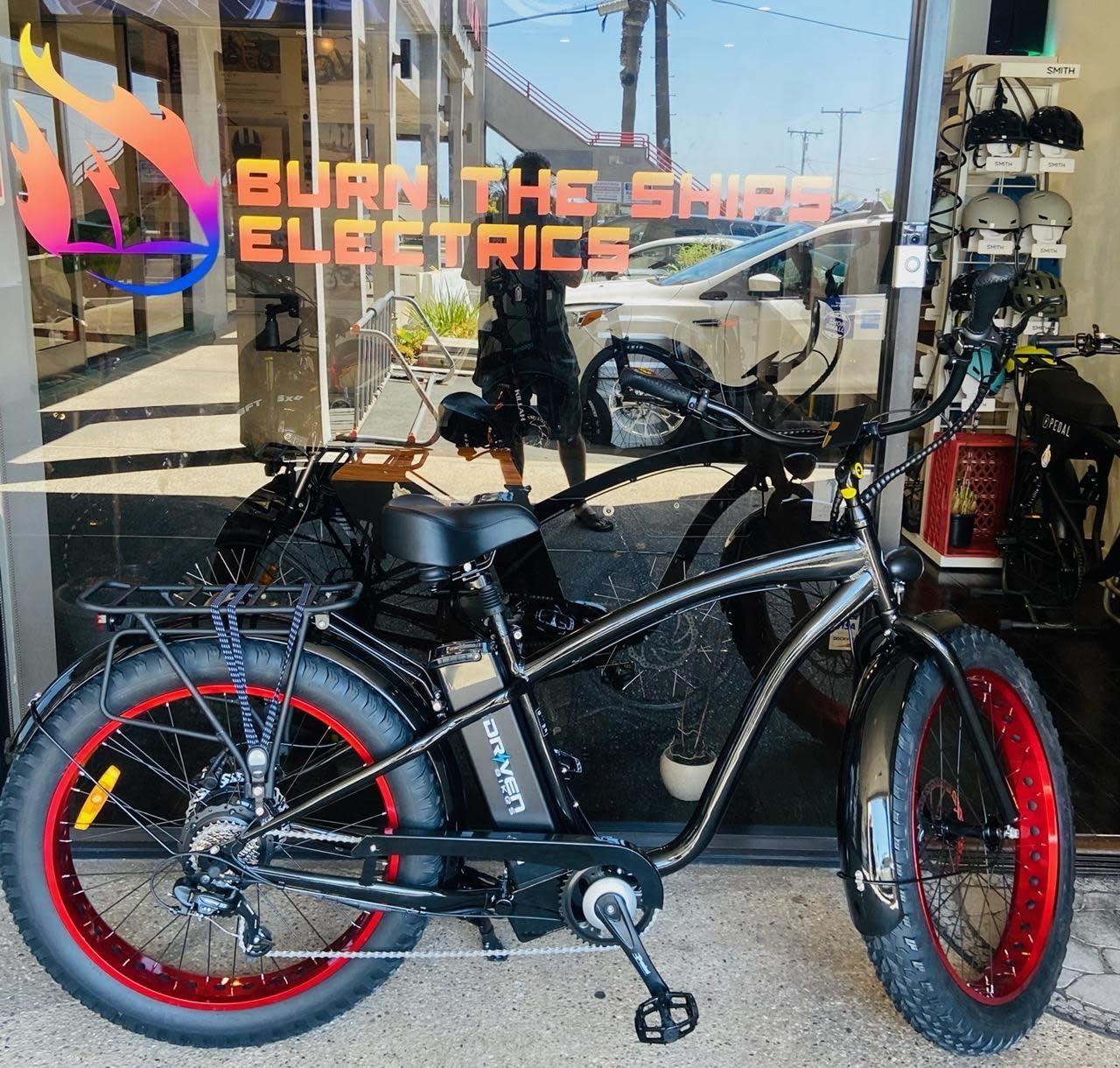 Driven Bikes Playa Express 750+ Glossy Black Red Rims
