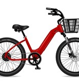 Electric Bike Company Model R Red 7Sp Basket Red Rims Susp Seat