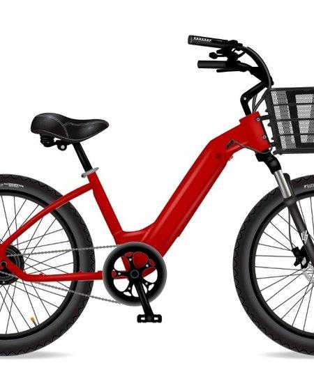 Model R Red 7Sp Basket Red Rims Susp Seat