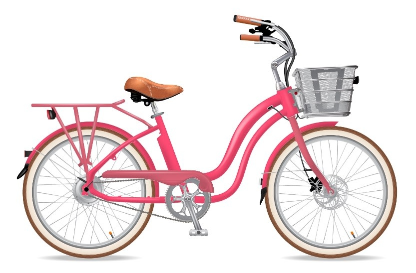 Electric Bike Company Model Y Bubblegum With  Rack
