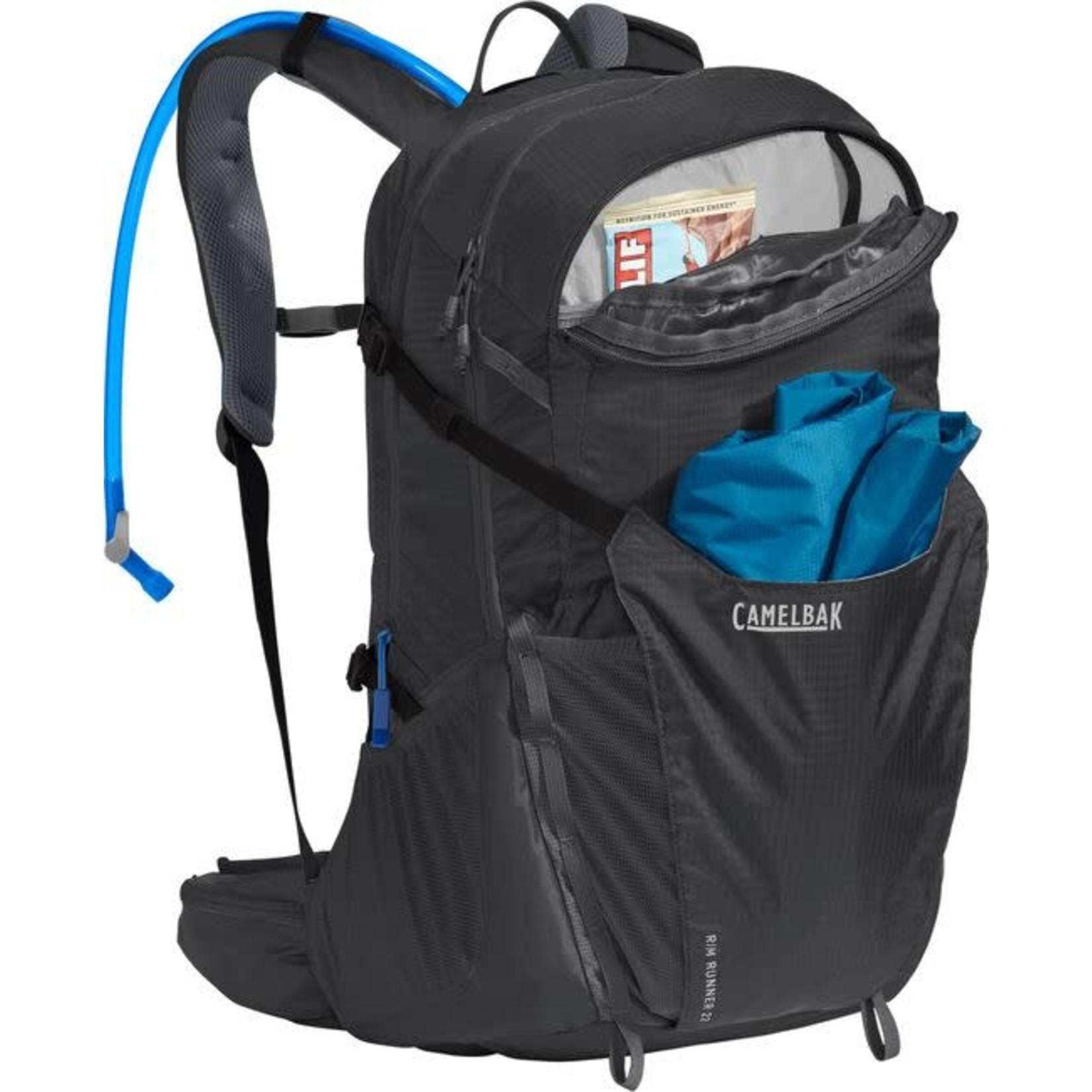 CAMELBAK Backpack, Rim Runner 22, 85oz, Charcoal / Grecian Blue