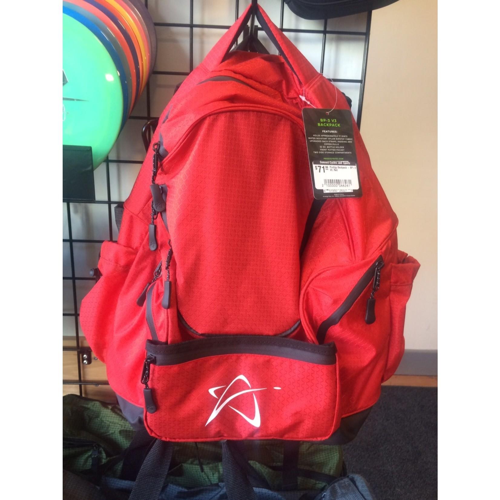 Prodigy Discs Prodigy Backpack - BP-3 V3, Red