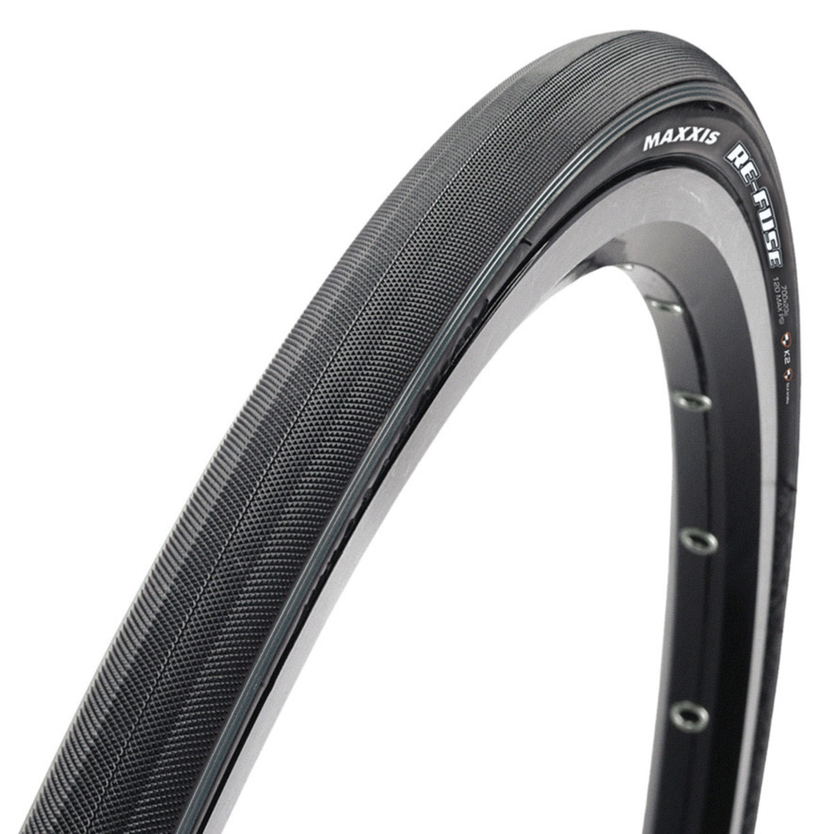 Maxxis Tires - Maxxis Re-Fuse 700x25C Folding Clincher - Black