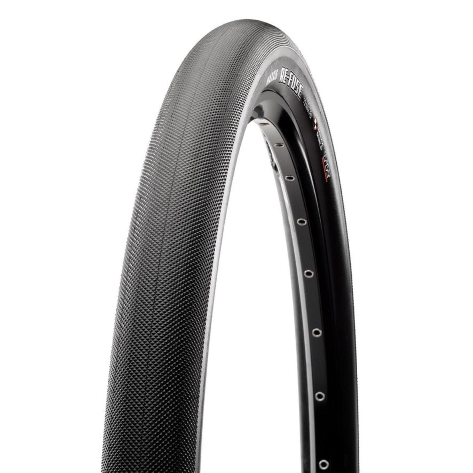 Maxxis Maxxis, Re-Fuse 27.5'', Tire, 650Bx47C, Folding, Tubeless Ready, Dual, MaxxShield, 60TPI, Black