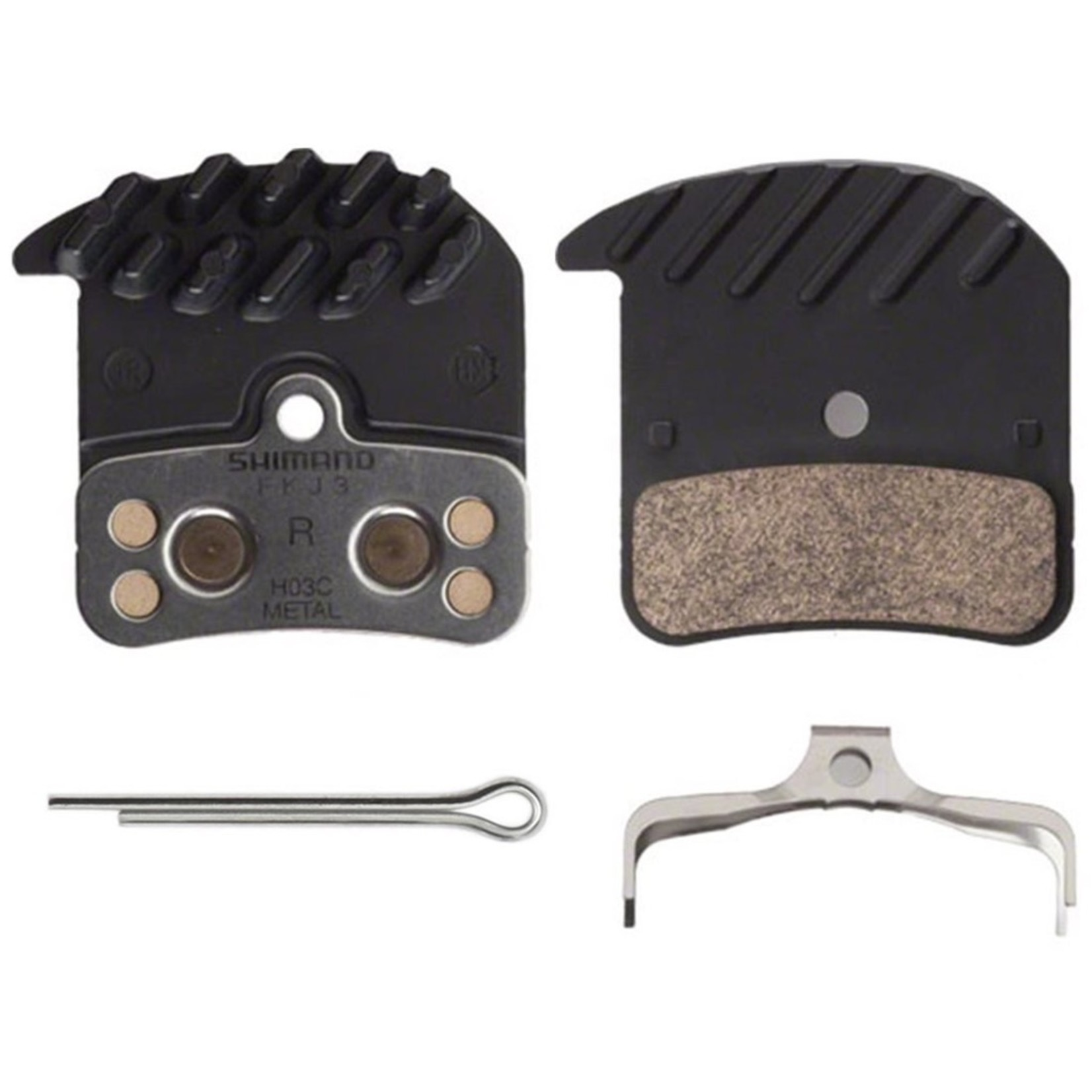 Shimano Disc Brake Pads, Shimano, H03C, Metalic Finned