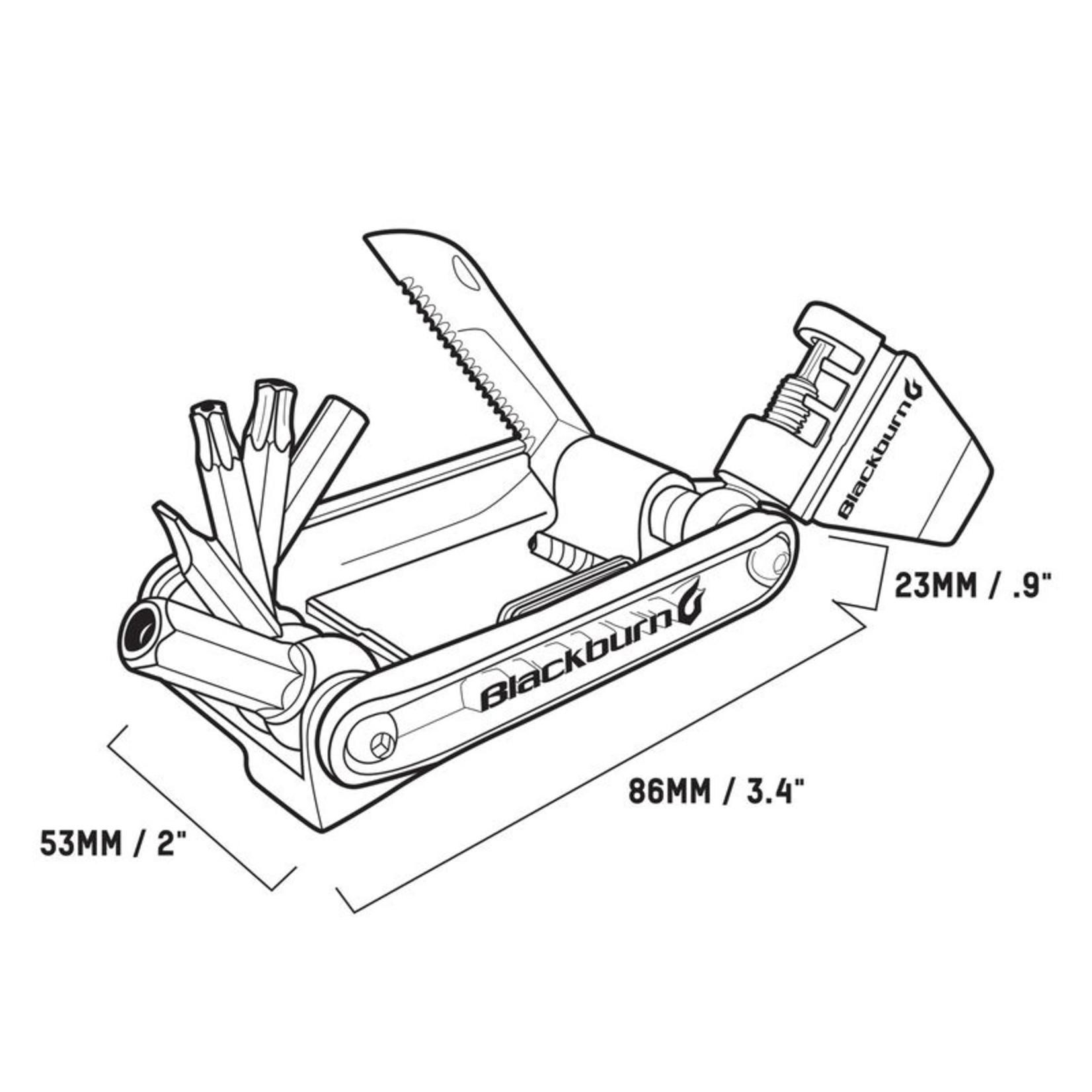 BLACKBURN Tools - Wayside Multitool, Pewter