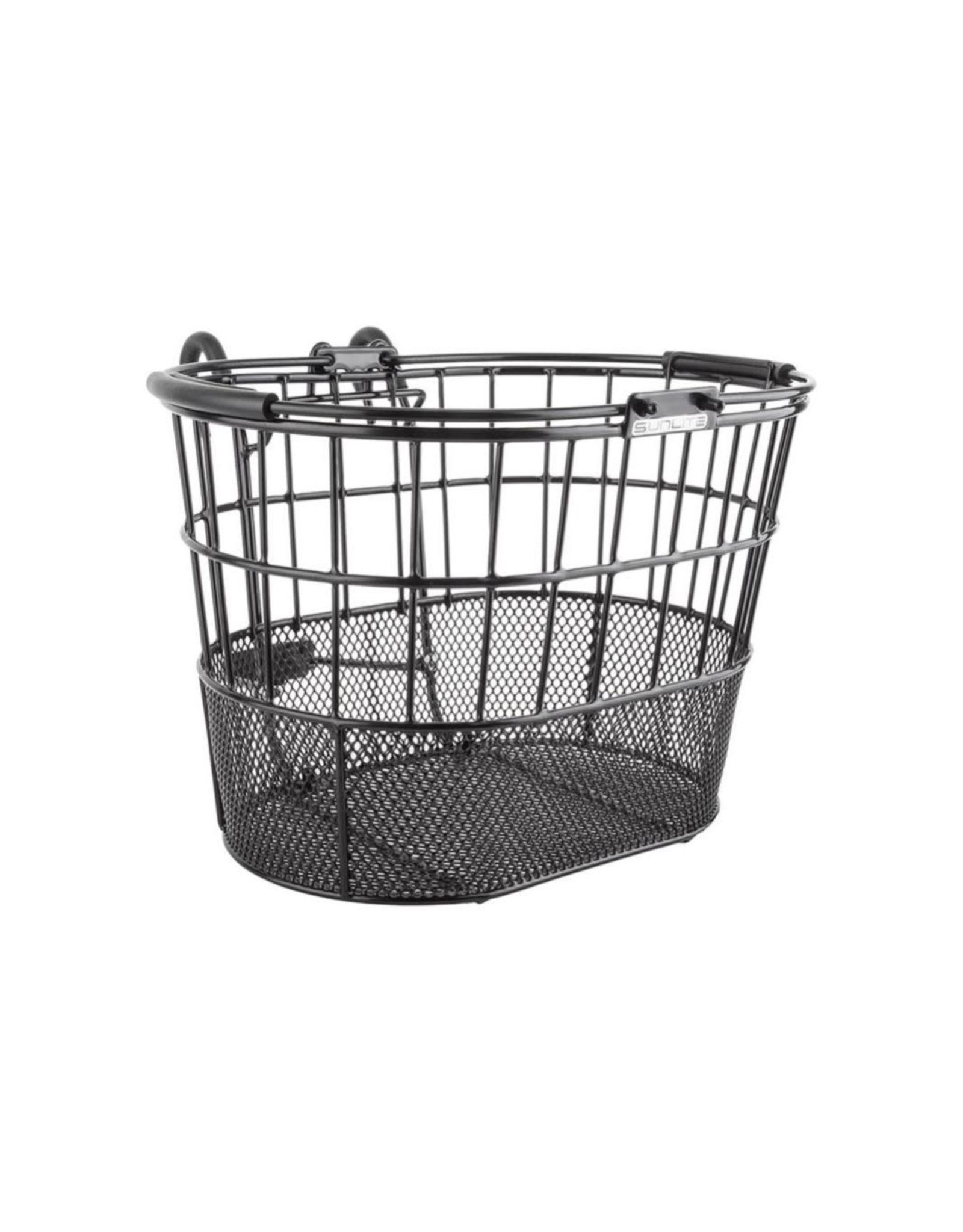 Basket Ft Wire/Mesh Oval Black Lift Off