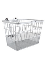 Basket Sunlt Ft Wire/Mesh L/O Silver