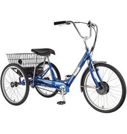 SUN BICYCLES 20 Sun Trike E350 P-Blue 24 Electric 1sp w/White Basket
