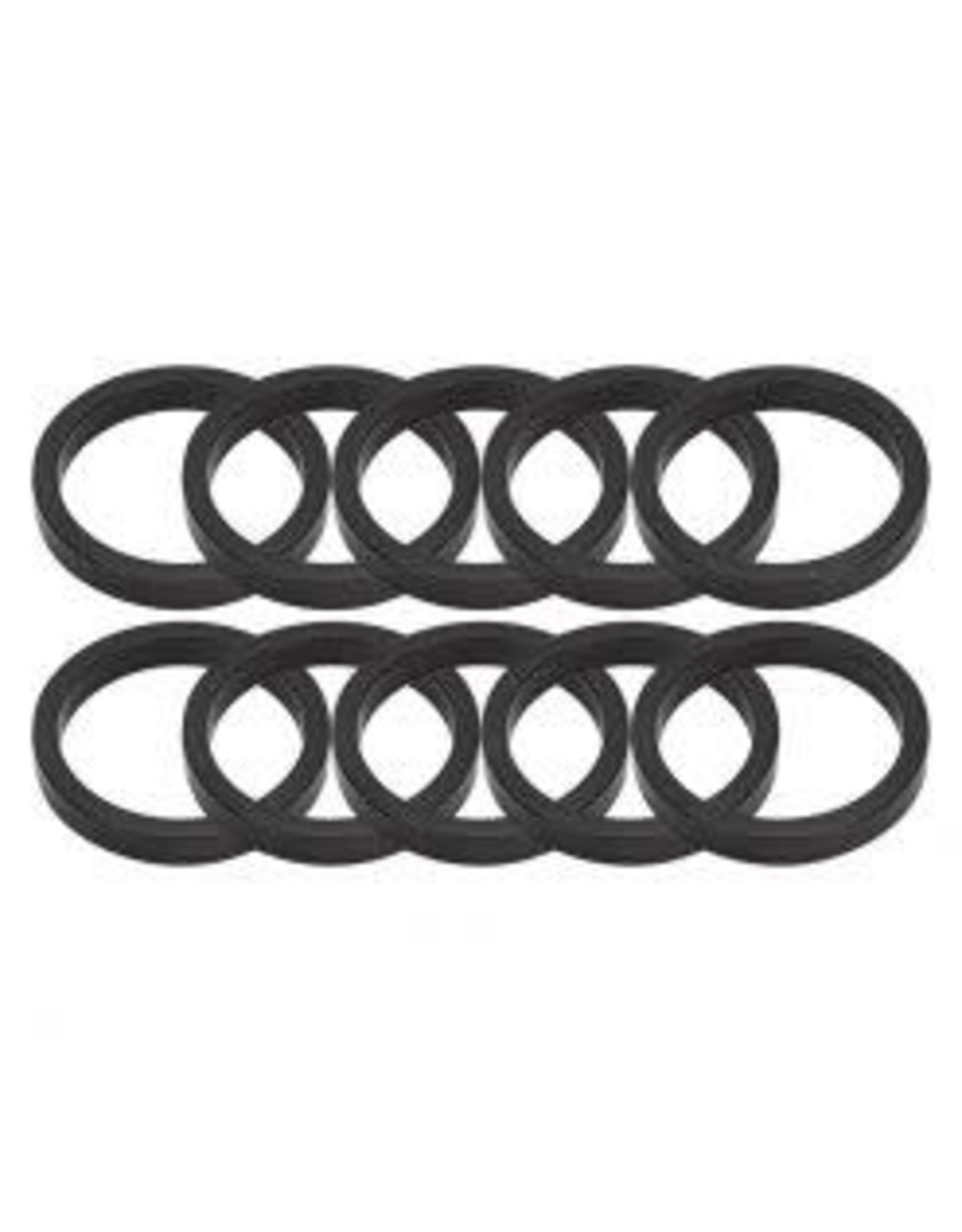 Headset Spacer Alloy 5mmx1-1/8 Blk Bag of 10 single