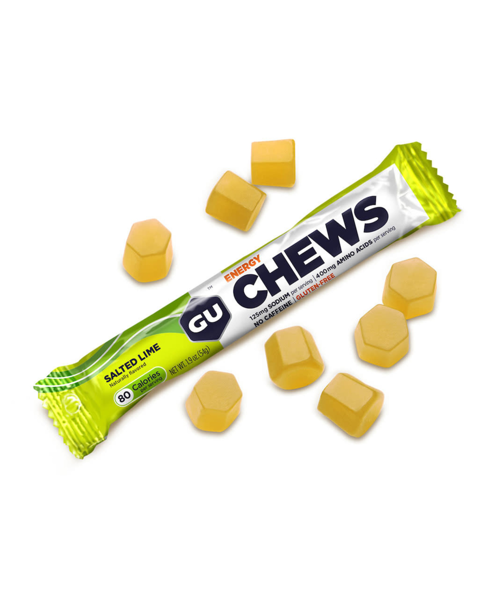 GU Energy Labs Gu Salted Lime Chews Box of 18 single