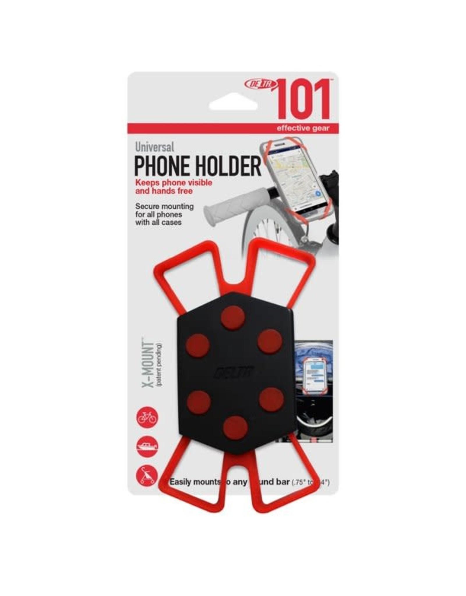 Delta Phone Delta X Mount Pro Universal Phone Holder Black/Red