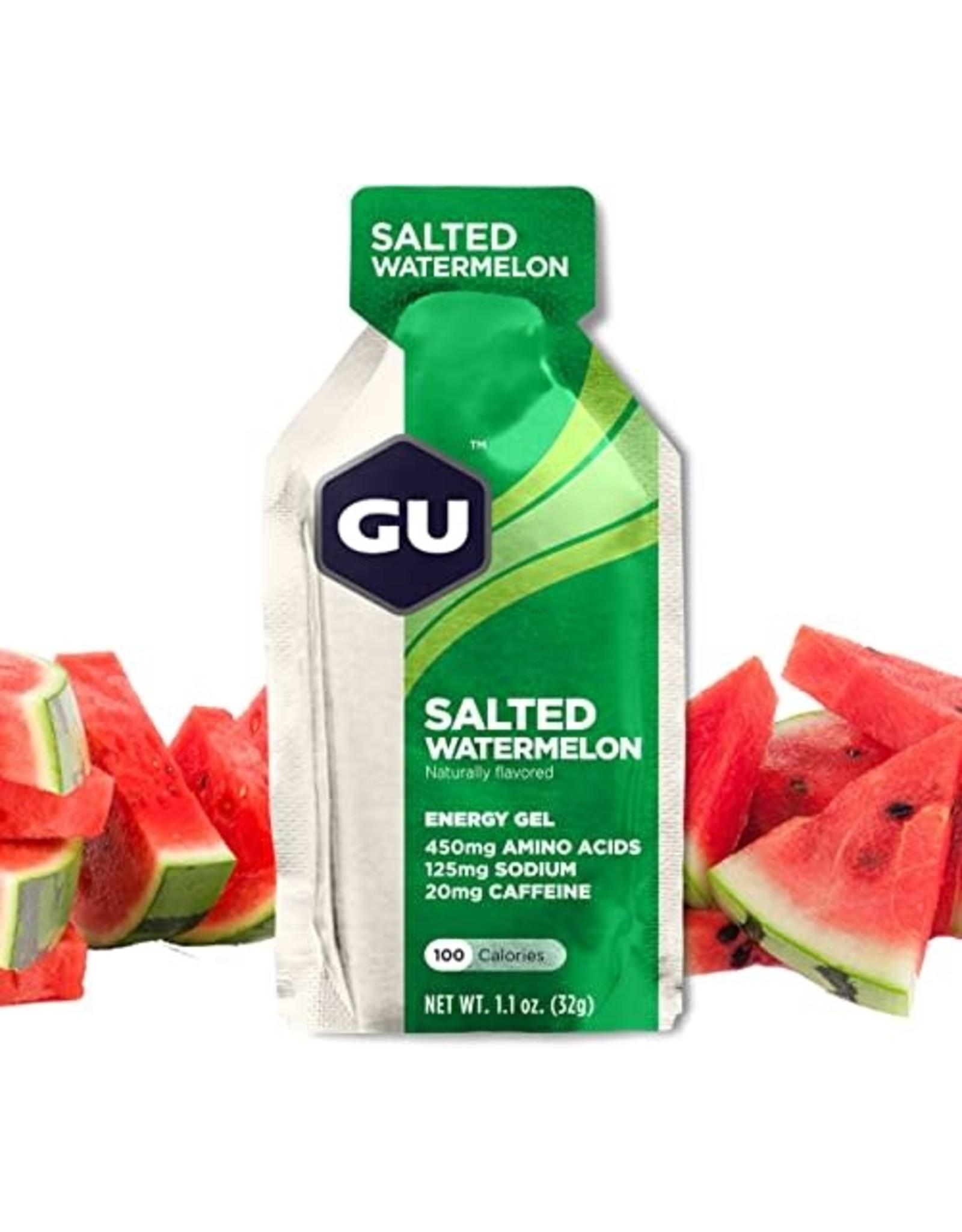 GU Energy Labs GU Salted Watermelon Gel Box of 24 single
