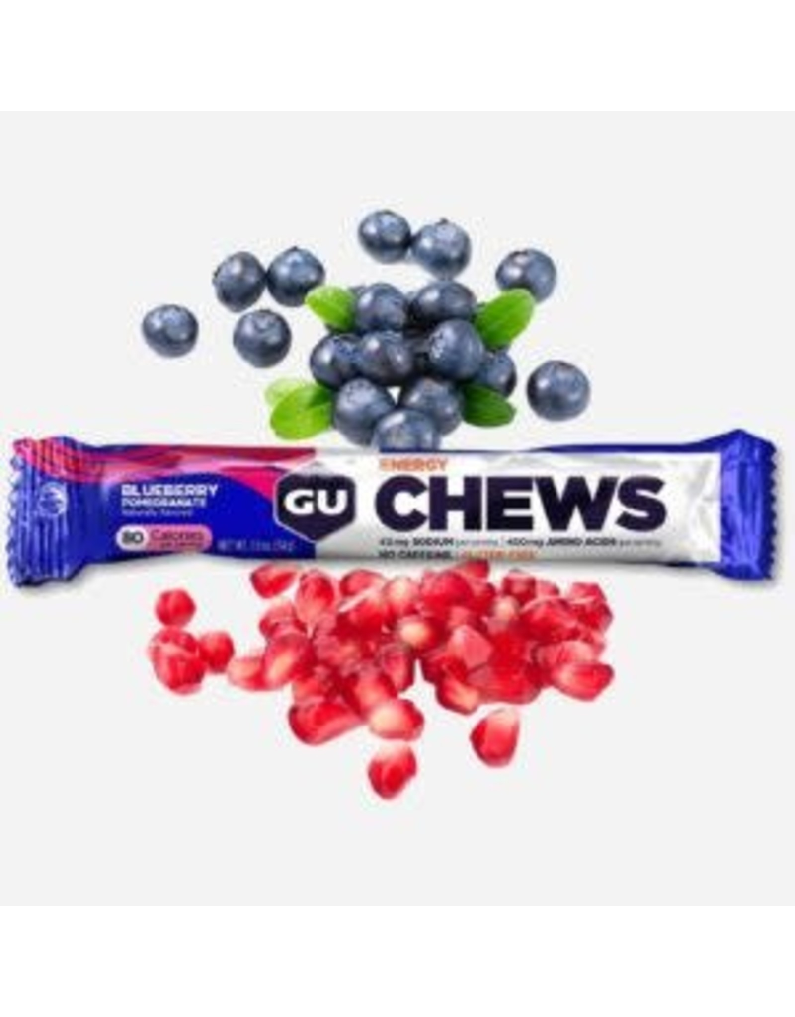 GU Energy Labs GU Blueberry Pomegranate Chew Box of 18 single