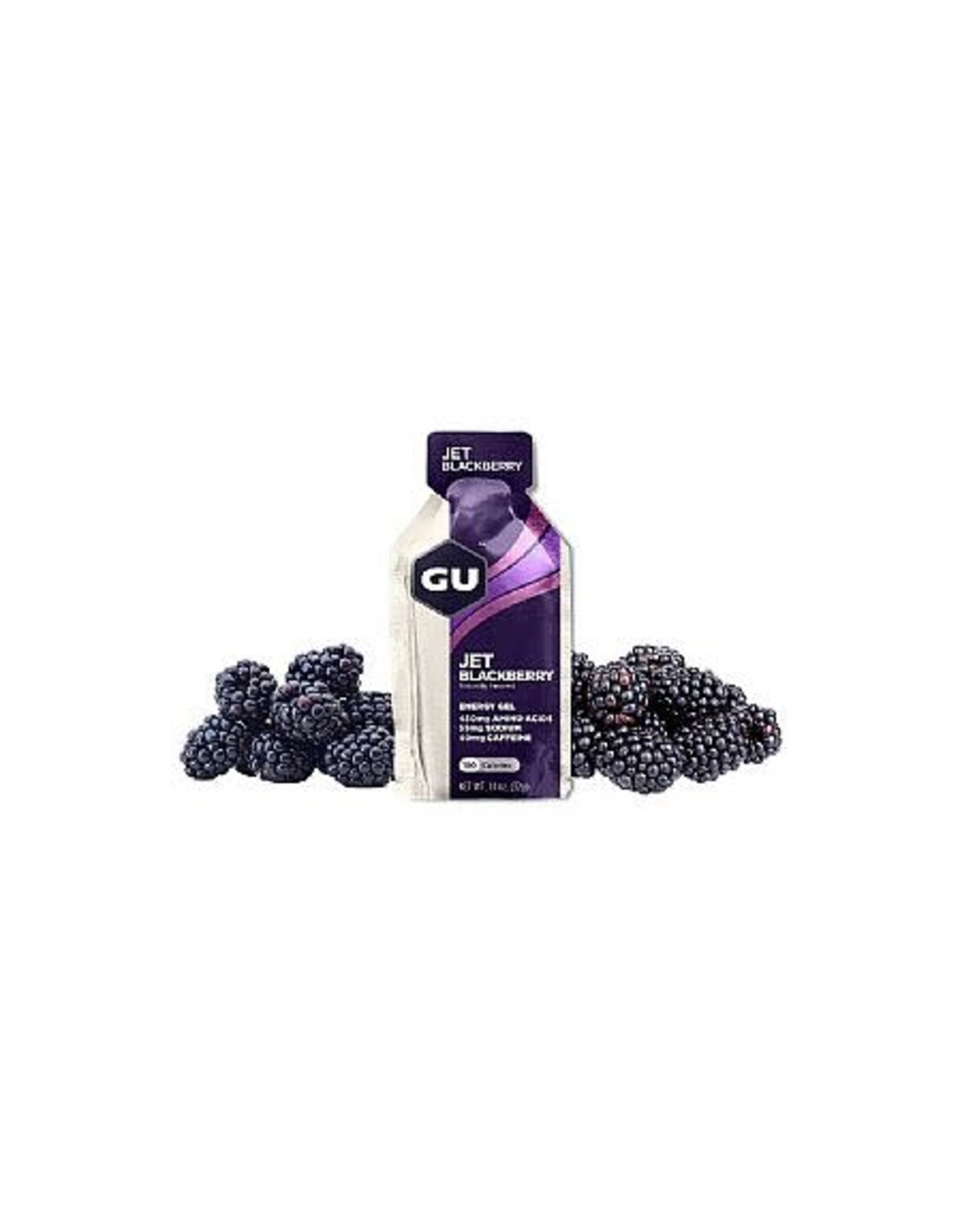 GU Energy Labs GU Energy Gel: Jet Blackberry Box of 24 single
