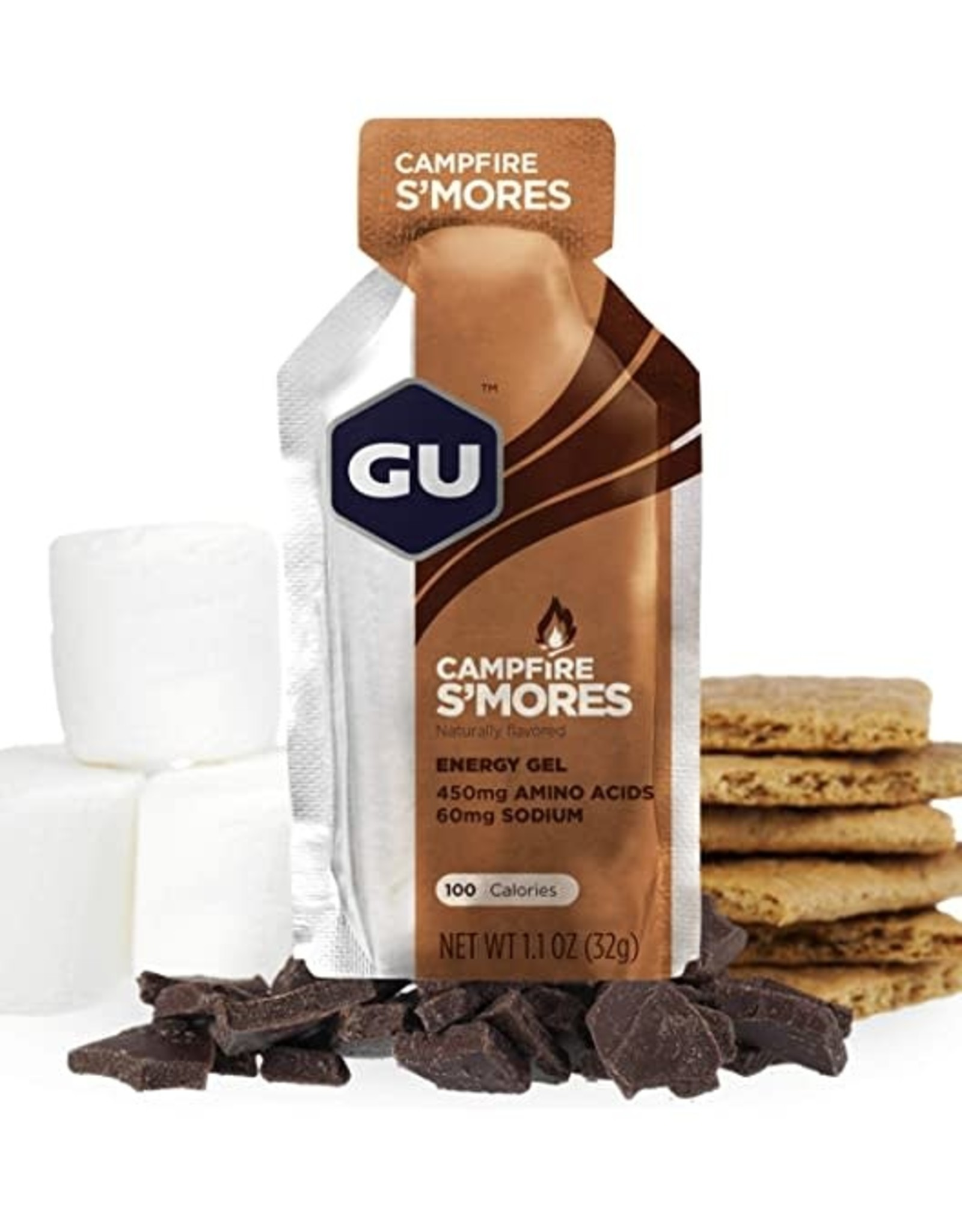 GU Energy Labs GU Campfire S'Mores Gel Box of 24 single