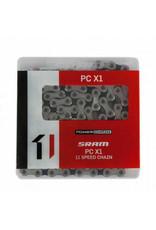 SRAM Chain Sram PC-X1 11-Speed w/ PowerLock 118L Silver/Black