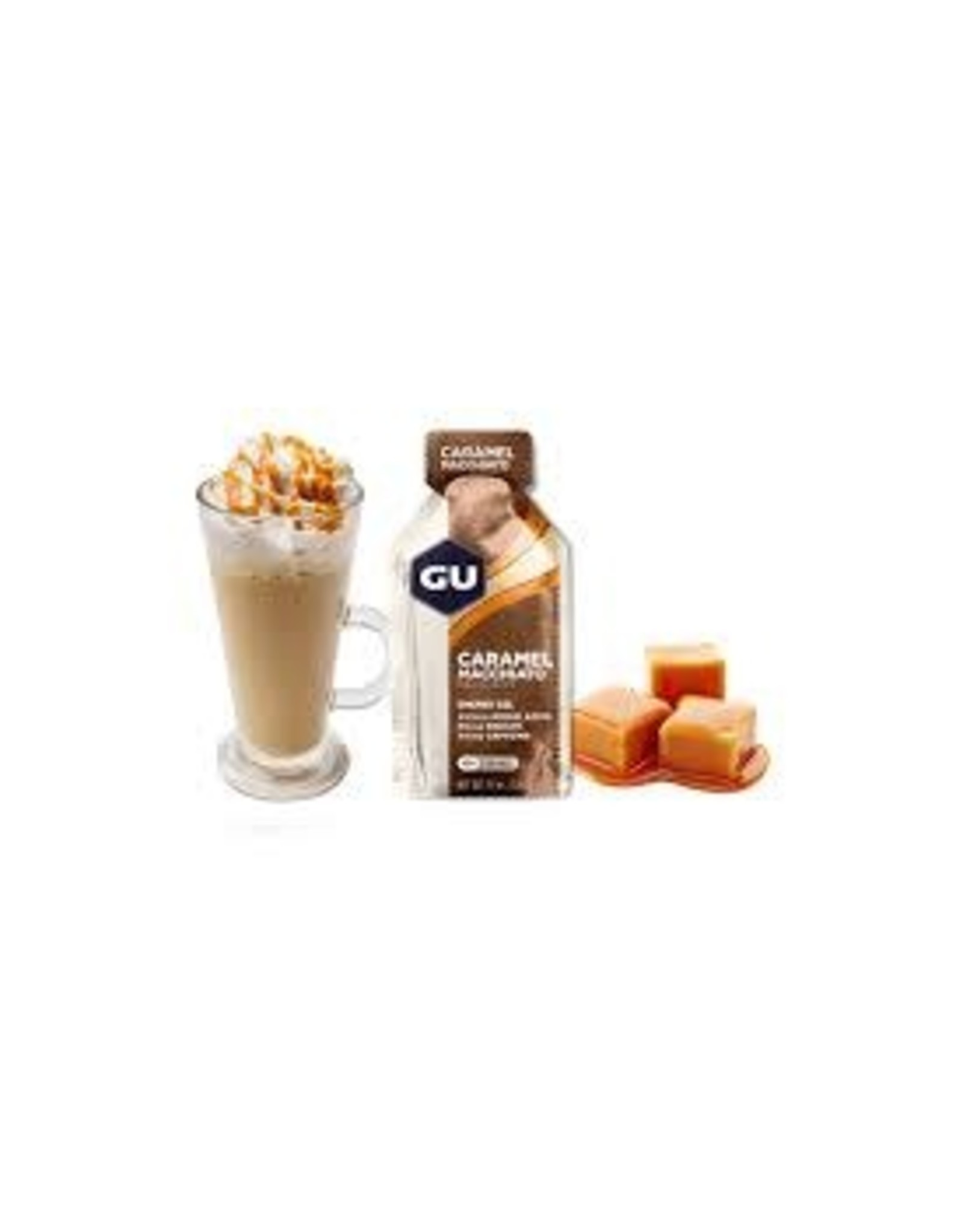 GU Energy Labs GU Caramel Macchiato Gel Box of 24 single