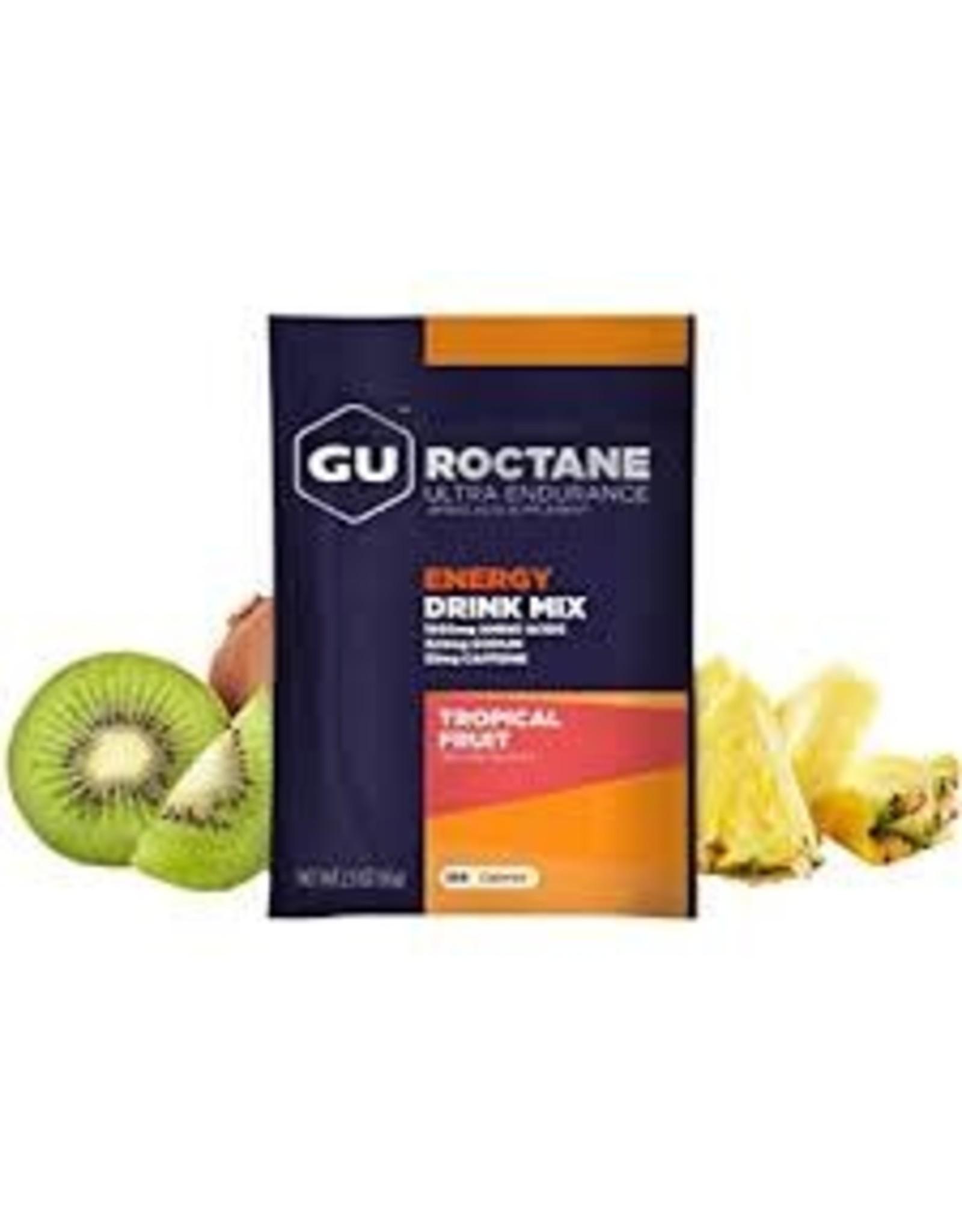 GU Energy Labs GU Roc Drink Tropical Fruit Box of 10 single