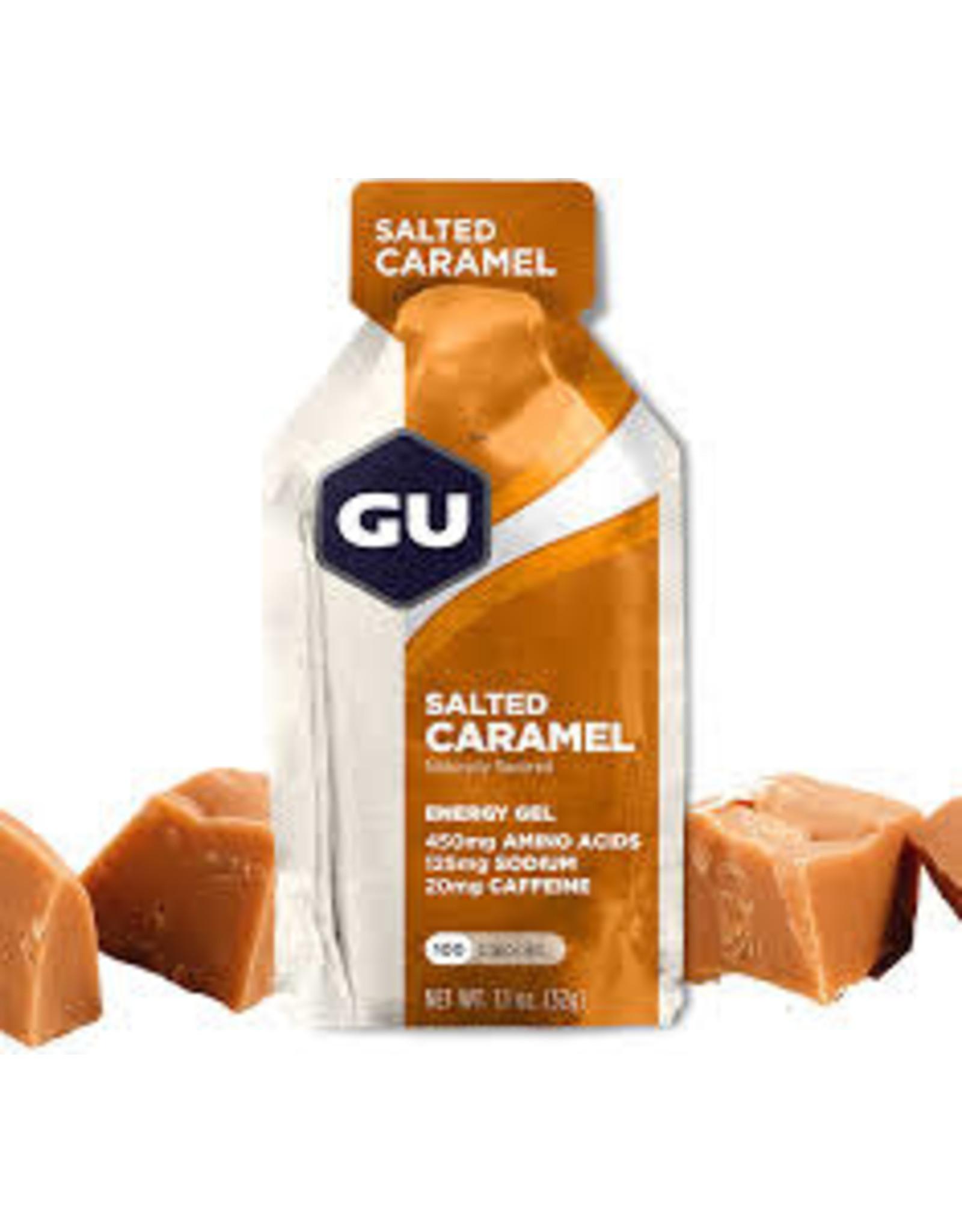 GU Salted Carmel Gel 24 Pack single