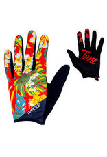 Glove Handup Red Floral Large