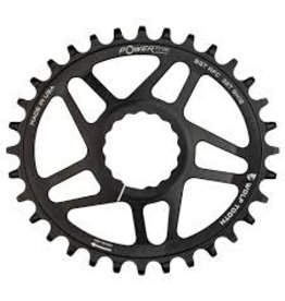 Wolf Tooth Chainring Wolf Tooth Elliptical 32t RaceFace/Easton CINCH Direct Mount, Drop-Stop, For Boost Cranks, 3mm Offset, Black