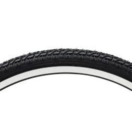 Vee Rubber Tire 26 x 1.75 White Wall Vee Rubber Semi Knobby Wire Black 27tpi