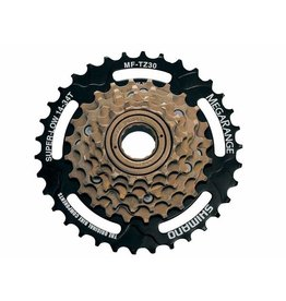 Dimension Freewheel Dimension 6-Speed 14-34t Brown and Black