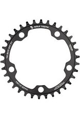 Wolf Tooth Chainring Wolf Tooth 110 BCD 40t 110 BCD 5-Bolt, Drop-Stop, 10/11/12-Speed Eagle and Flattop Compatible, Black