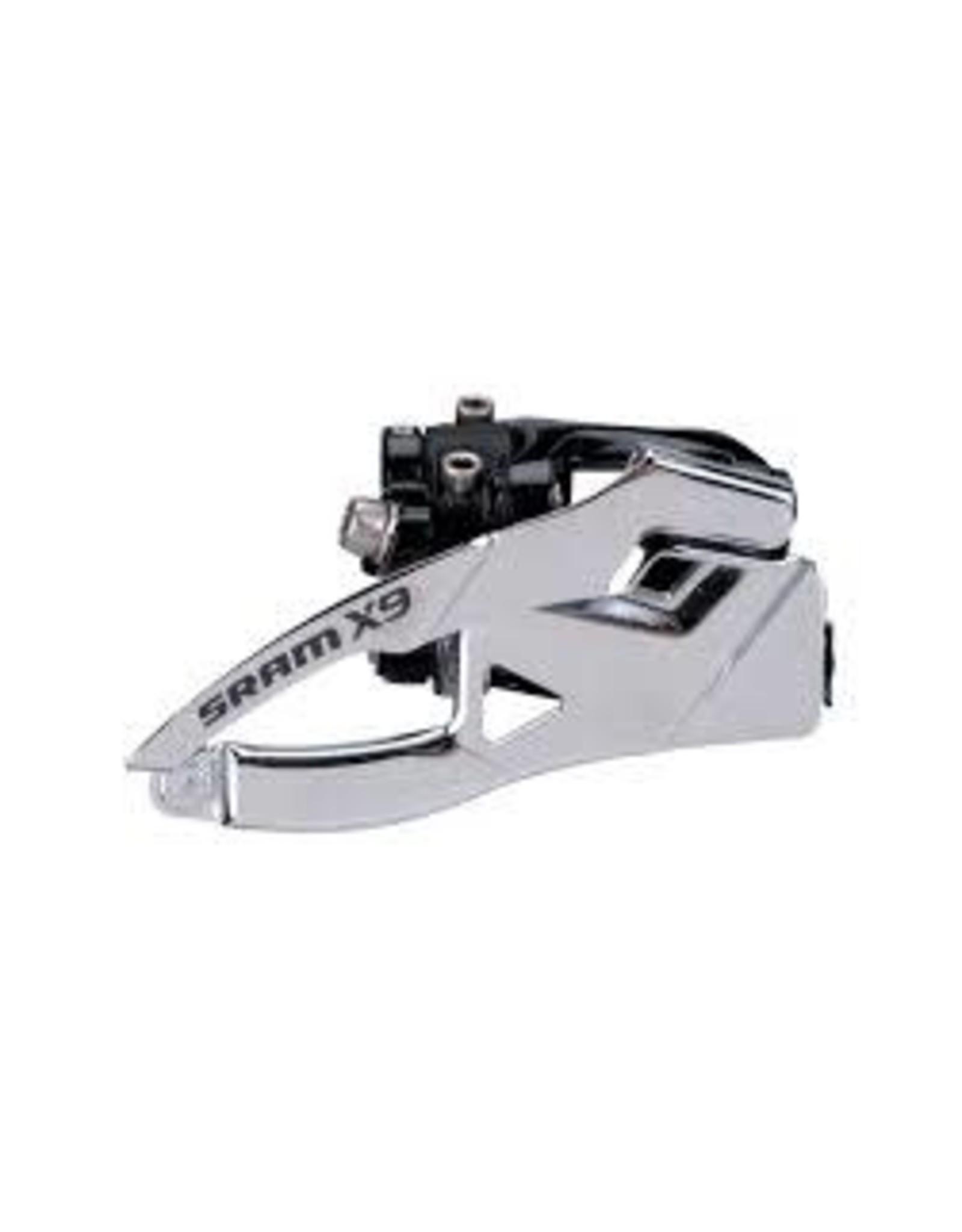 SRAM Derailleur Sram X.9 2 x 10 BottomPull 31.8/34.9mm Low Clamp Front Derailleur