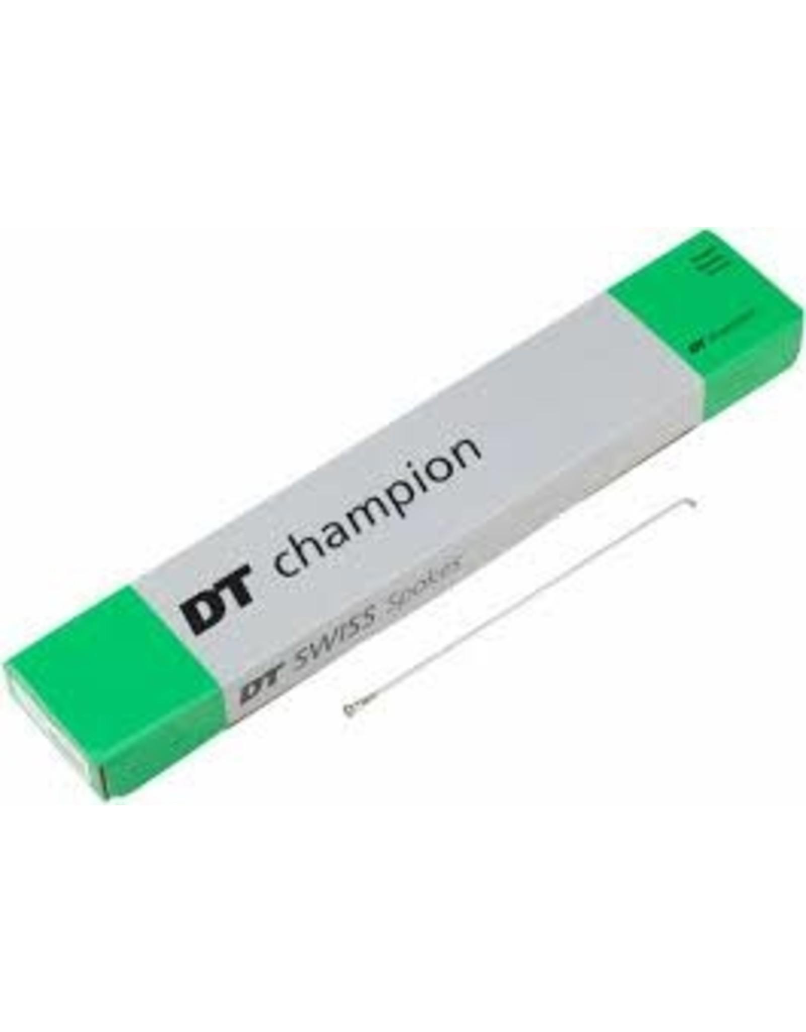 DT Swiss Spoke DT Swiss Champion 208mm J-bend Silver, Box of 100