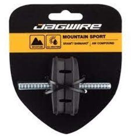 Jagwire Brake Pad Jagwire Mountain Sport Brake Pads Smooth Post 53mm Pad, Black