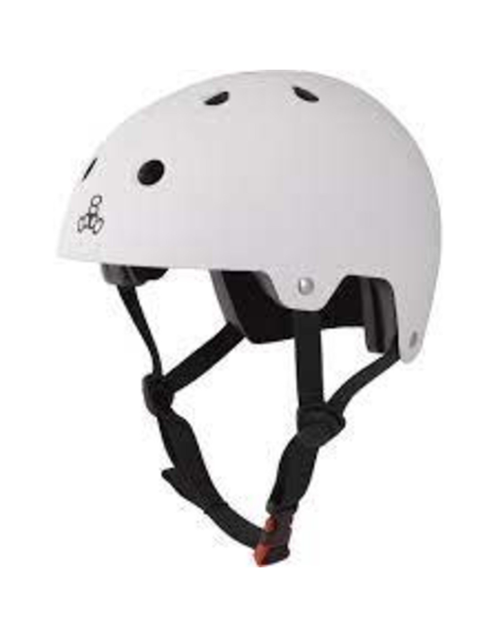 TRIPLE EIGHT Helmet Triple8 Dual Cert w/EPS Sm-Md Gunn Lg-XL White