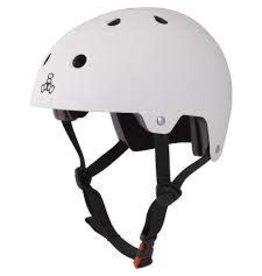 TRIPLE EIGHT Helmet Triple8 Dual Cert w/EPS Sm-Md Gunn Sm-Md White