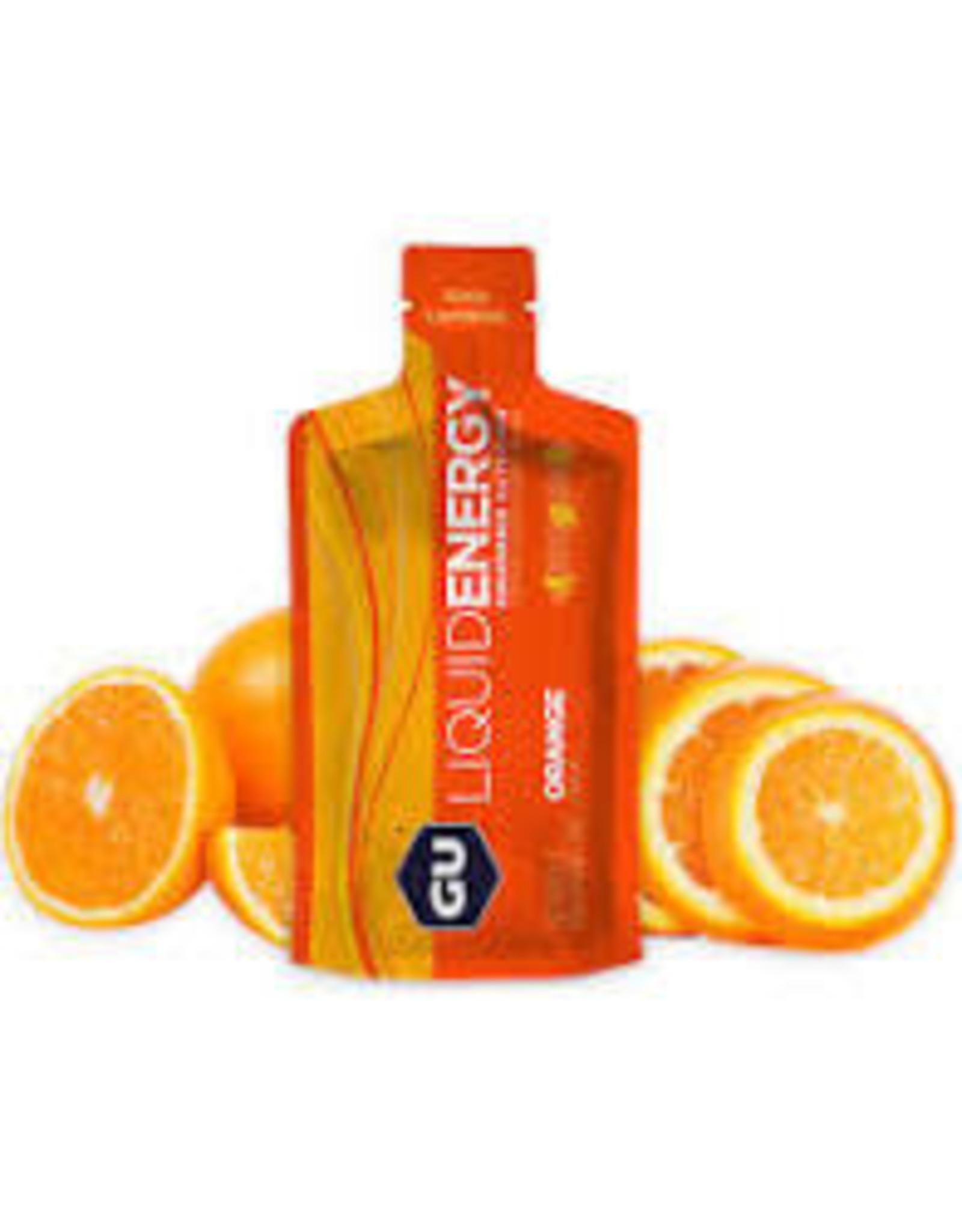 GU Energy Labs GU Liquid Energy Orange Box of 12 single
