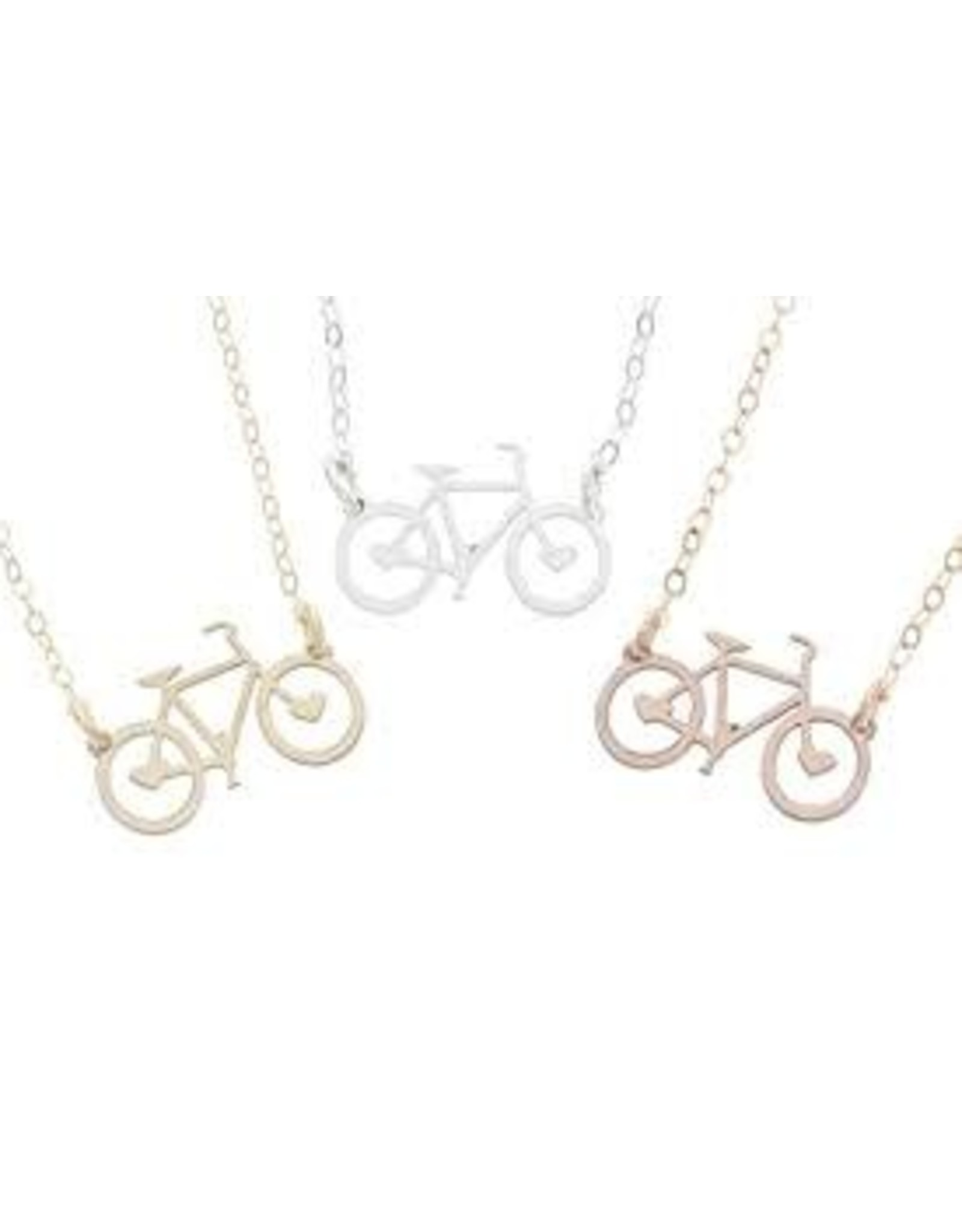 Necklace Bicycle Silver