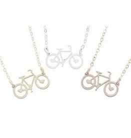 Necklace Bicycle Rose Gold
