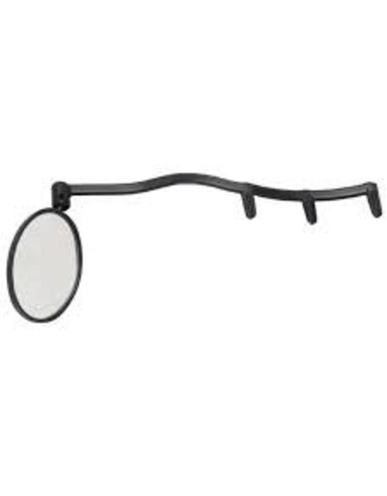 CycleAware Mirror CycleAware Heads Up Eyeglass Mirror: Clip on; Black