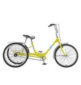 SUN BICYCLES Trike Sun Adult Yellow 24 Alloy Wheel w/Basket