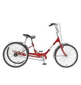 SUN BICYCLES Trike Sun Adult Red 24 Alloy Wheel w/Basket