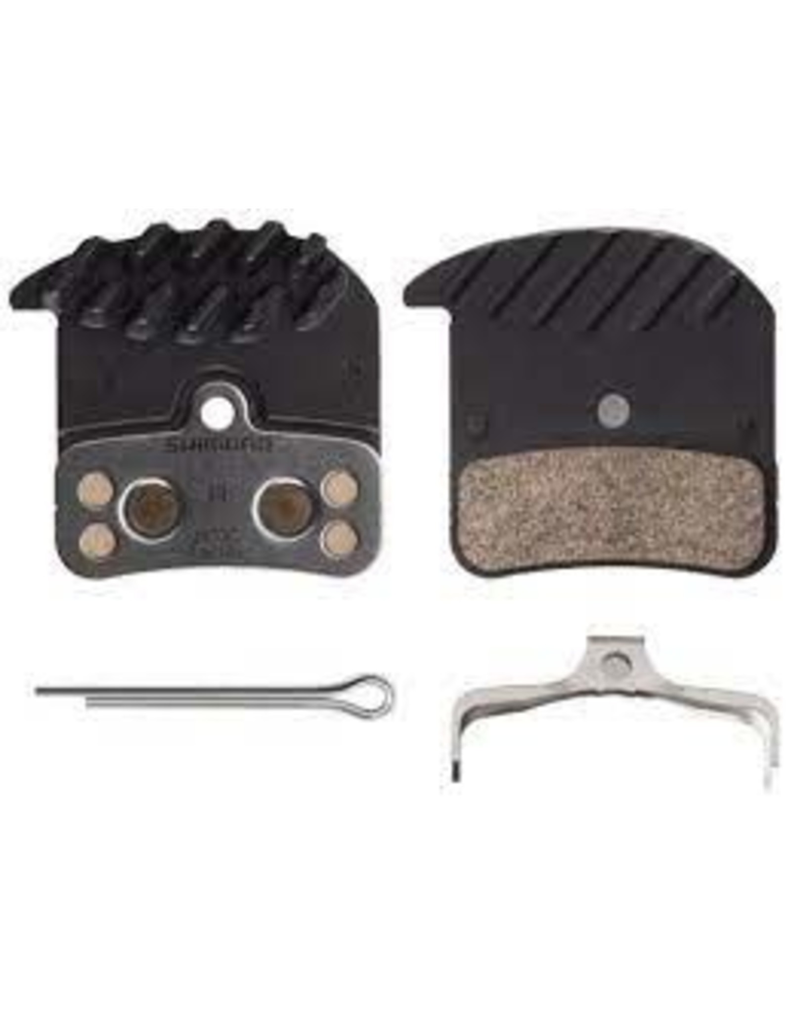 Shimano Brake Pad Shi H03C Metal, Aluminum Backed, Finned, For Saint BR- M820/Zee BR-M640/Deore XT BR-M8020