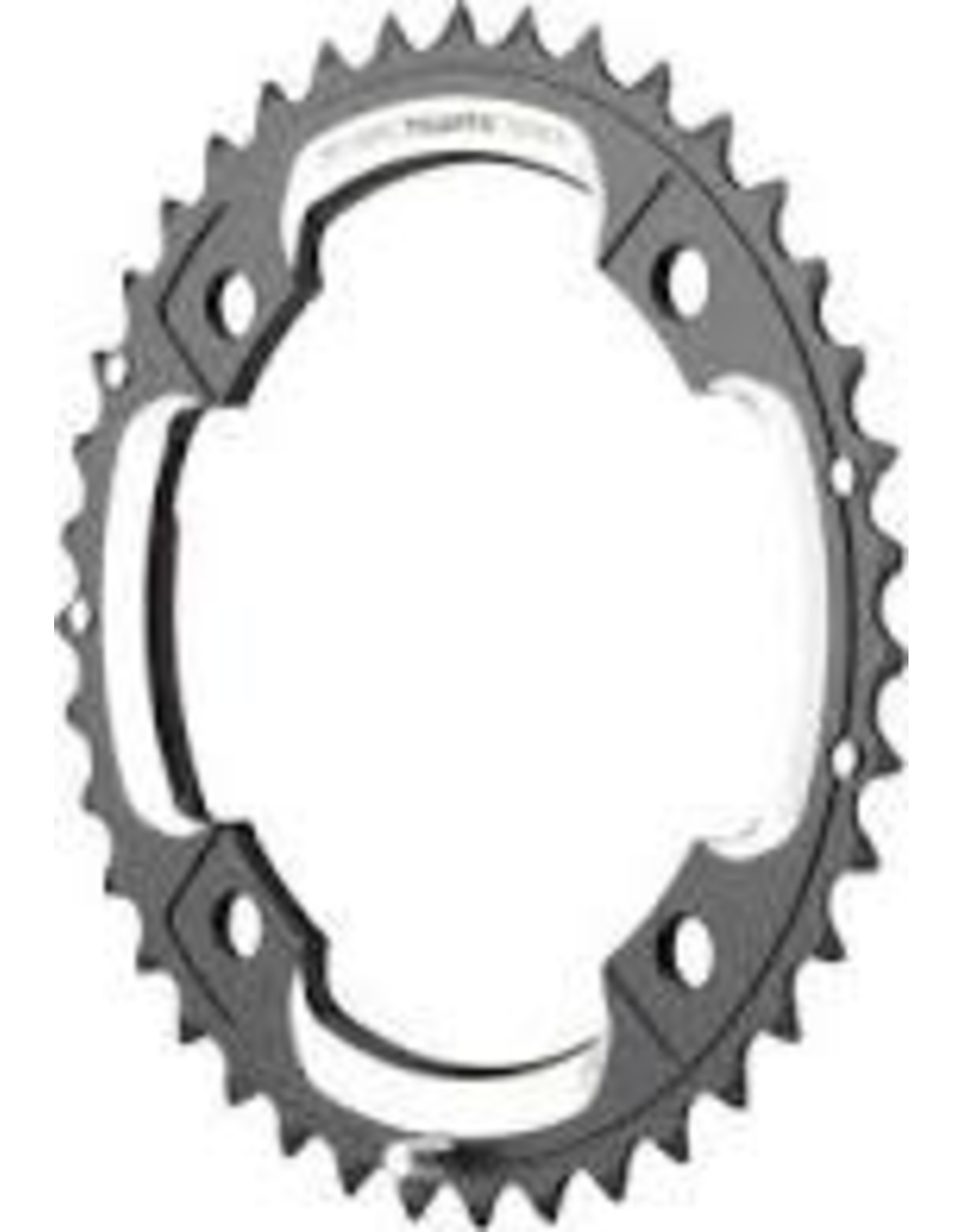 SRAM Chainring SRAM 48T 10-Speed 110mm Black Chainring for BB30 Crank, Short Over-shift Pin, Use with 34T