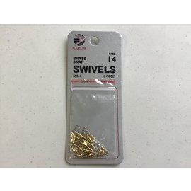 Plastilite Brass Snap Swivel #14