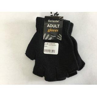 Fingerless Knit Gloves - Black