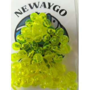 NF&T Pro Pack Beads Iridecent Chartreuse Base 8mm 60