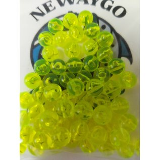 NF&T Pro Pack Beads Irridecent Green Base 8mm 60